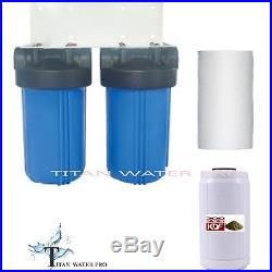 Whole House Water Filter Big Blue Water Filter System KDF85 Iron/Sulfide Removal