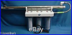 Whole House Water Filter /Sediment/Carbon Clear 3/4 Ports 8 GPM UV Sterilizer