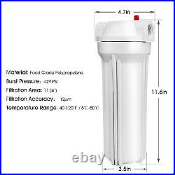 Whole House Water Filter System 3-Stage Filtration + Sediment Water Filter