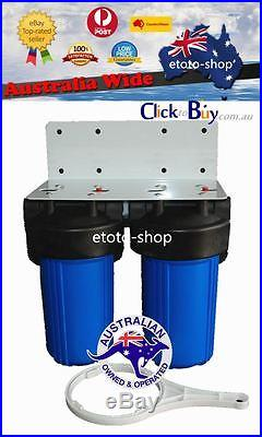 Whole House Water Filter System Big Blue (2 stages) 10 x 4.5 Carbon + Sediment