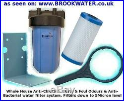 Whole House Water Filter System, Carbon Filtration Of Cryptosporidium & Chlorine