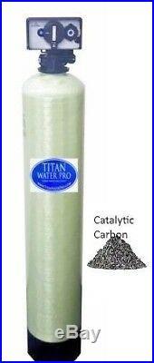 Whole-House Water Filter System Catalytic Carbon 2 CU FT Backwash Timer Valve