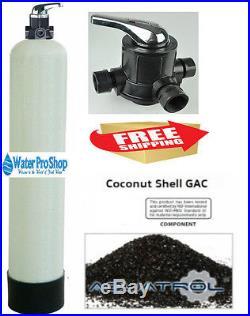 Whole House Water Filter System UDF Carbon Manual Backwash Valve POE 2 CU FT