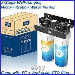 Whole House Water Filter System Water Softener Alternative Carbon & KDF Filter