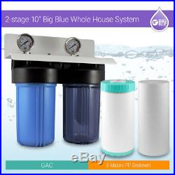 Whole House Water Filtration System 10x 4.5 Municipal & Well Water 3/4'' Ports