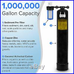 Whole House Water Filtration System 1,000,000 gal capacity withPre-filter, GAC/KDF
