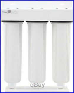 Whole House Water Filtration System Home Master 15 GPM Threaded 3-Stage White