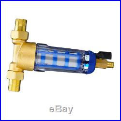 Whole House Water Pre-filter System Tank Water Filter 3/4 1/2 Brass Port